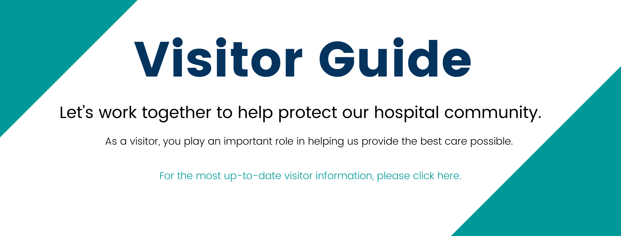 This is an image indicating brief information on visiting. Click on image for PDF Version of full Visitor Guide.